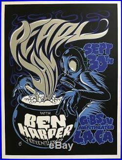 PEARL JAM Gibson Amp Los Angeles, CA September 30, 2009 ACORN Concert Poster