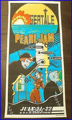 Pearl Jam Wallflowers Seattle July 21-22 1998 Concert Poster Memorial Stadium