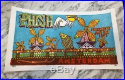 PHISH Amsterdam Jim Pollock 1997 concert print poster S/N x/750 hampton