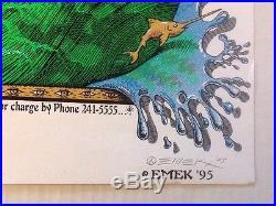 PHISH Silkscreen Concert Poster Signed by EMEK 1995 Cleveland State University