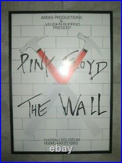 PINK FLOYD Framed 1980 Nassau Coliseum Music Concert Print Art Poster Artwork