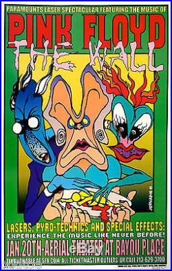 PINK FLOYD Poster Original CONCERT S/N by Jermaine Rogers Laser Spectacular