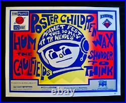 POSTER CHILDREN & HUMSigned Silkscreen Concert Tour PosterIllinois Indie Rock