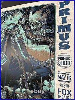 PRIMUS concert poster NC Winters Atlanta, GA May 16, 2018 Sepia & Teal