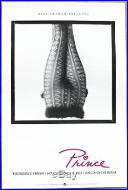 PRINCE Live At Oakland Coliseum Vintage Original 1988 1st Print Concert Poster
