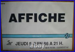 PUBLIC IMAGE LTD PIL sex pistols original french concert poster'86