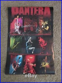 Pantera Autographed Concert Poster