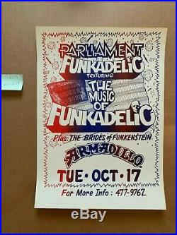 Parliament Funkadelic Armadillo AWHQ Original Concert Poster EX+ 1978