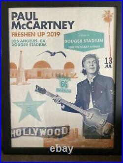 Paul McCartney Freshen Up Tour Concert Poster Dodger Stadium Los Angeles LA #66/
