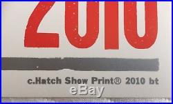 Paul McCartney Hatch Show Print Concert Poster, Nashville TN 2010 Beatles Wings