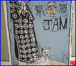 Pearl Jam 1998 Original Concert Poster Ames Bros Brisbane, Australia