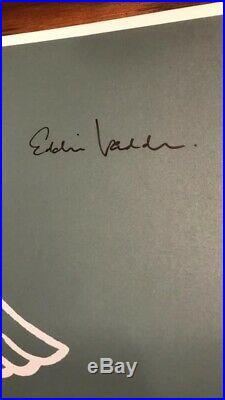 Pearl Jam 2003 Detroit Concert Poster Eddie Vedder Signed Autographed Ames Bros