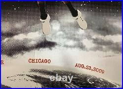Pearl Jam 8/23/09 2009 Chicago Concert Poster Jeff Ament 18x24 Eddie Vedder S. E