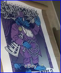 Pearl Jam Ames Bros 2xl Signed 2013 Wrigley Field Concert Poster Rare Only 100