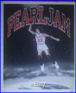 Pearl Jam Chicago 2009 concert poster Jordan United Center