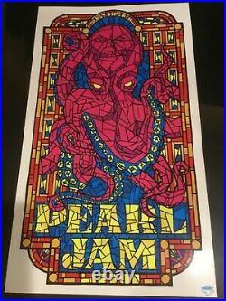 Pearl Jam Concert Poster 7.10.10 Lisbon Portugal Ames Bros