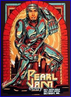 Pearl Jam Concert Poster Detroit 2014 Chris Chelios Edition Munk One