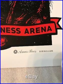 Pearl Jam Concert Poster Greenville SC 4/16/2016 Bon Secours Wellness Ames Bros