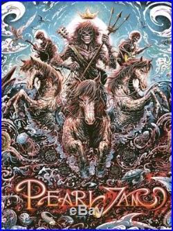 Pearl Jam Concert Poster Miles Tsang Amsterdam Night 2 SE