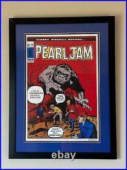 Pearl Jam Concert Poster Missoula Montana Eddie Vedder Ames 1998 Yield Tour S/N