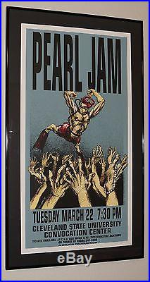 Pearl Jam Derek Hess concert poster Cleveland 1994 FRAMED