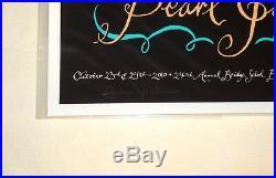 Pearl Jam Eddie Vedder Hand Signed 2010 Bridge School Concert Poster! S/n Of 214
