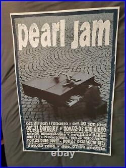 Pearl Jam Eddie Vedder Very Rare Original First Printing Concert Poster