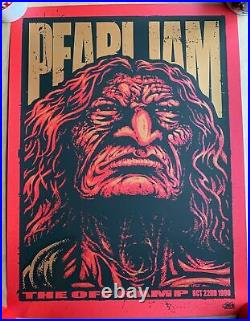 Pearl Jam First Concert Poster Off Ramp 1990 Ames Bros VARIANT S/N A/P #52/165