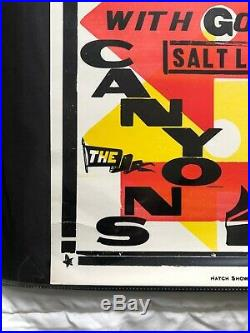 Pearl Jam Hatch Show Print Concert Poster @ The Canyons, Salt Lake City UT 1998
