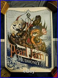 Pearl Jam & Mudhoney Winnipeg Silkscreen Concert Poster Greg Simkins 9/17/11