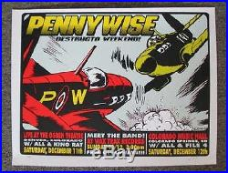 Pennywise Denver 1999 Concert Poster Kuhn Silkscreen Original Punk