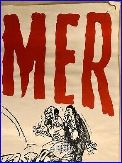 Peter Tosh Poster Hammer Dem Dung Vintage Reggae Concert Marley Jamaica Original