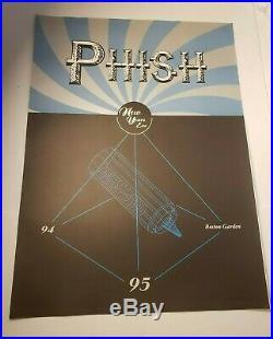 Phish Concert Poster NEW YEARS EVE 94 95 Mustard Boston Garden