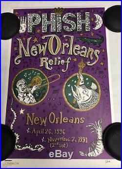 Phish JIM POLLOCK New Orleans 2005 Concert Poster. NOT HAMPTON