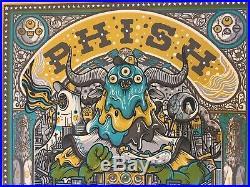 Phish boston poster fenway park millward art 2019 concert tour new