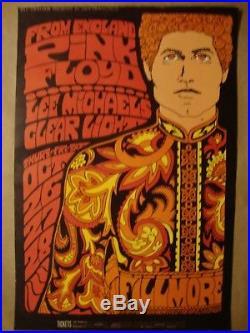Pink Floyd Fillmore Original Concert Poster 1967 Bill Graham Bg 90