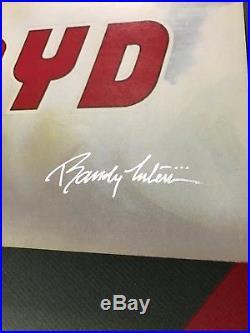 Pink Floyd Flying Pig Concert Poster Oakland Coliseum Aor 4.47 1st Edit Signed