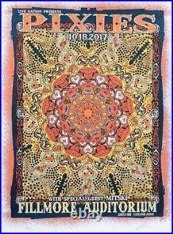 Pixies Concert Poster Lindsey Kuhn Orange