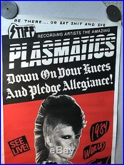 Plasmatics Concert Poster, 1984 World Tour, Olympic Aud, Wendy O, Rolled, 24x57
