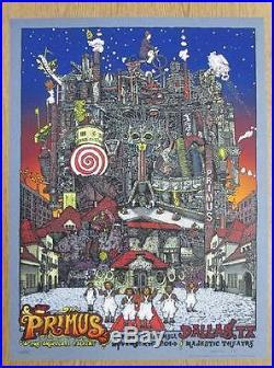 Primus Dallas 2014 Concert Poster Welker Silkscreen Original