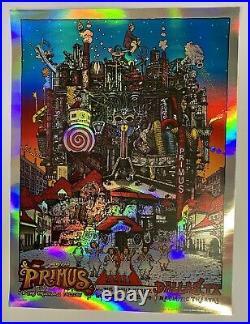 Primus Dallas Tx 2014 Welker Foil Original Silkscreen Concert Poster Willy Wonka