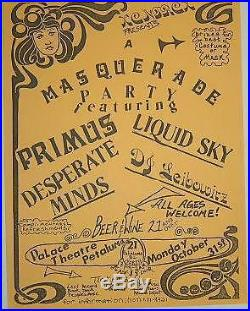 Primus Les Claypool Original 1988 Concert Poster Flyer