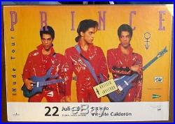 Prince 1990 Madrid Spain HUGE concert poster