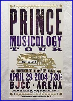 Prince Musicology Hatch Show Print Concert Poster @ Birmingham BJCC Arena 2004
