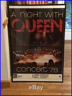 QUEEN 1978 Concert Poster Original