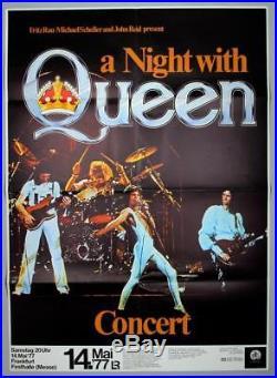QUEEN mega rare vintage original Germany 1977 concert poster