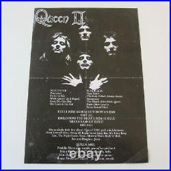 Queen II Album / Spring 1974 Tour UK Concert Promotional Flyer (Poster)