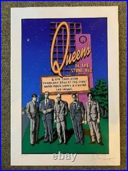 Queens of The Stone Age Concert Poster 2003 Las Vegas Justin Hampton P/P