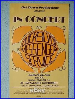 Quicksilver Messenger Service Original 1973 Paramount NW Portland Concert Poster