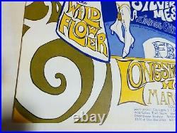 Quicksilver Wildflower Fluxfest Longshoreman Hall 3-31-69 Concert Poster Msc-lsh